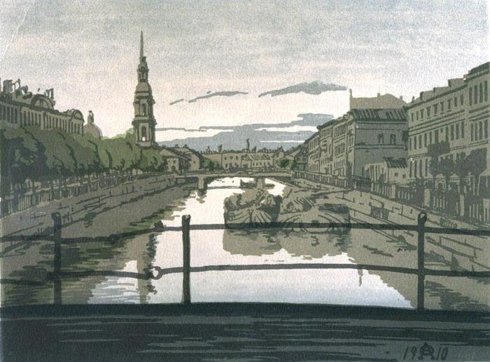 Крюков канал Цветная ксилография 1910 (700x518, 133Kb)