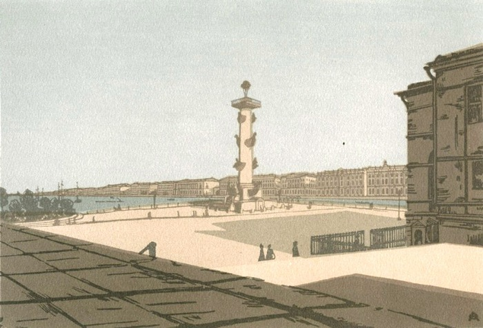 Невская перспектива Ксилография (700x476, 110Kb)