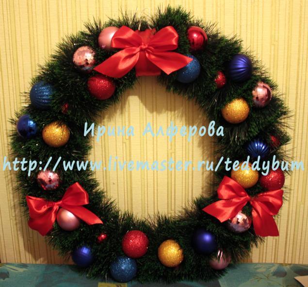 Веночек новогодний своими руками мастер класс