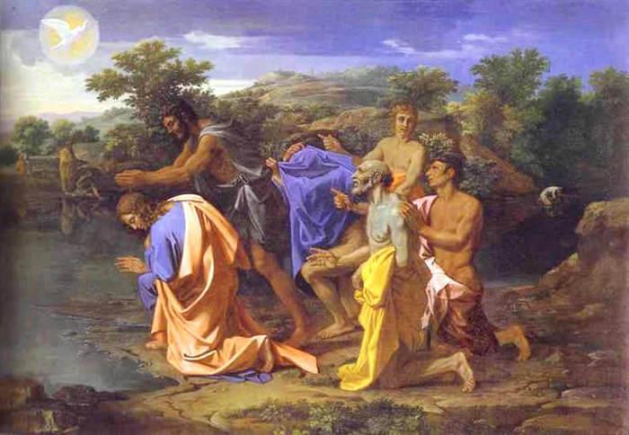 Никола Пуссен. 1650. Крещение Христа. (700x484, 56Kb)