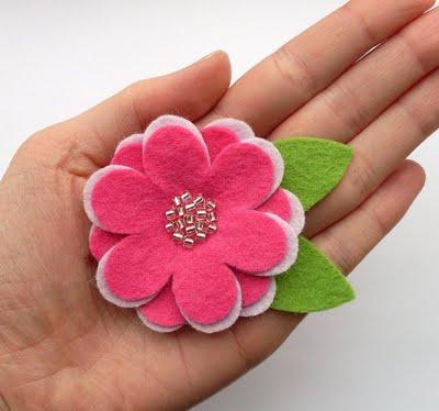 Цветы из фетра своими руками шаблоны