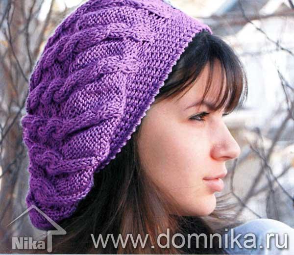 Схемы вязание беретов и шапок крючком и спицами