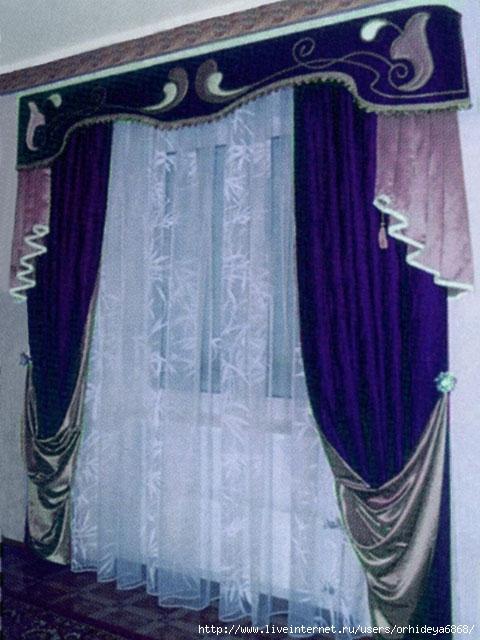 шторы для гостиной, шторы и ламбрекены.  480x640 postelnoe.net.ua.