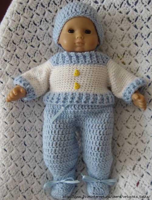 Вязаные платья для кукол