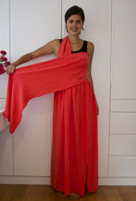 Как сшить длинное платье своими руками из