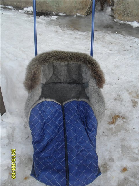 Меховой утеплитель в коляску своими руками