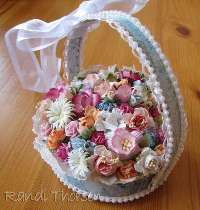 Корзинка для цветов из бумаги своими руками