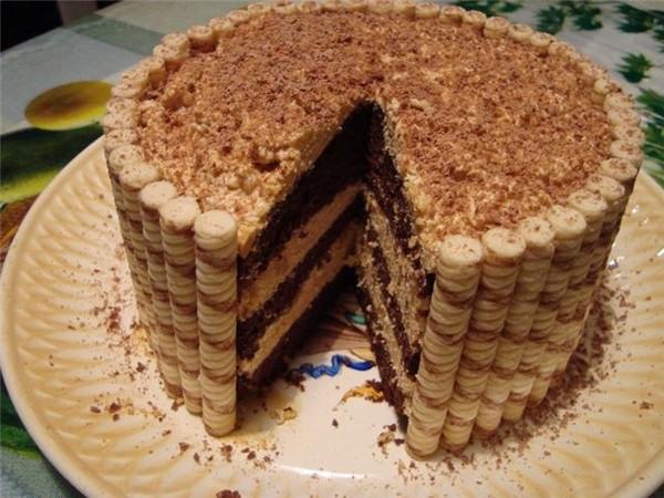 Торт из трубочек 25786