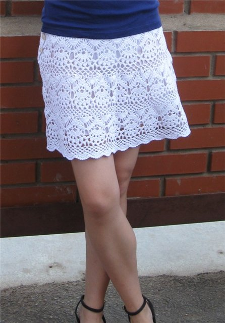 летняя юбка вязание спицами: