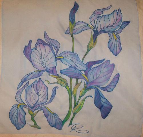Цветок из тюли своими руками