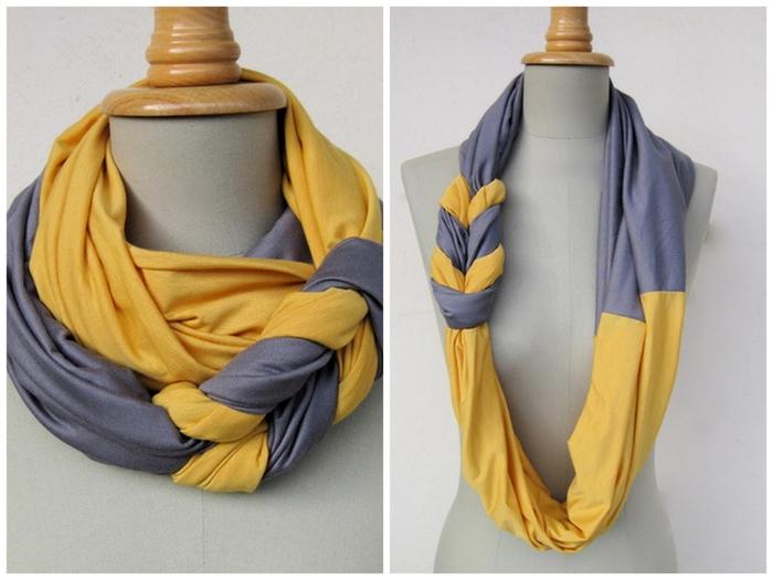 Жатые шарфы как сделать