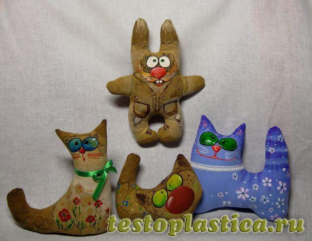 Игрушки из теста фото