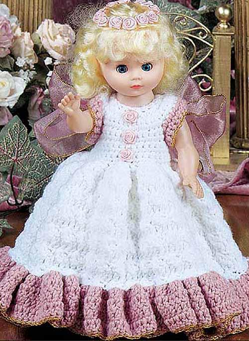Вязаная одежда для кукол.