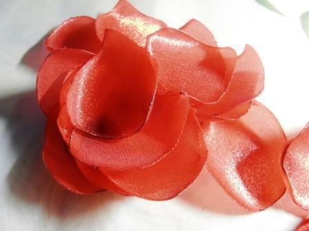Роза из шифона. Мастер-класс 13426