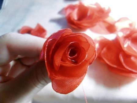 Роза из шифона. Мастер-класс 90553