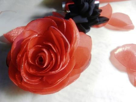 Роза из шифона. Мастер-класс 88272