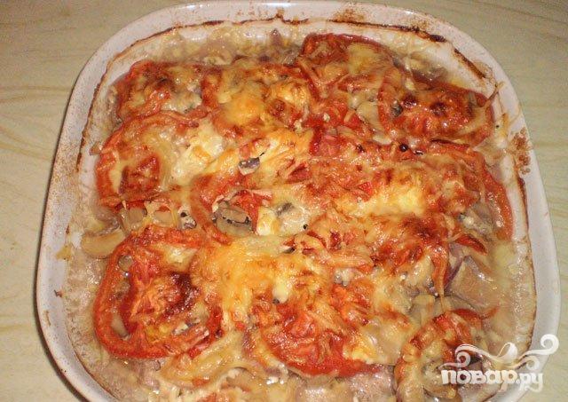 Говядина с помидорами в духовке рецепт с пошаговый
