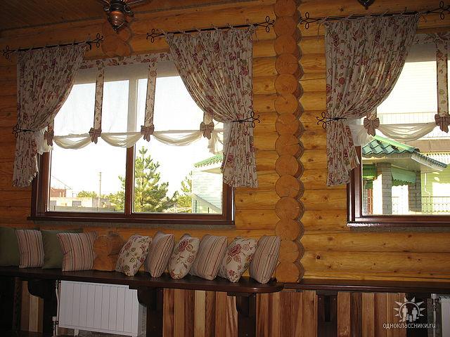 Деревенские шторы на окна