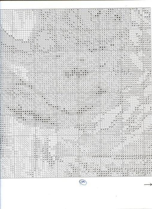 Встреча в лесу схема вышивки 38