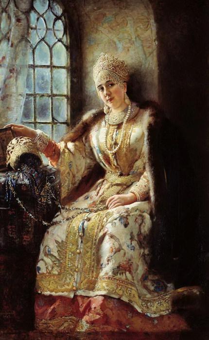 Боярыня у окна. 1885 (430x700, 97Kb)