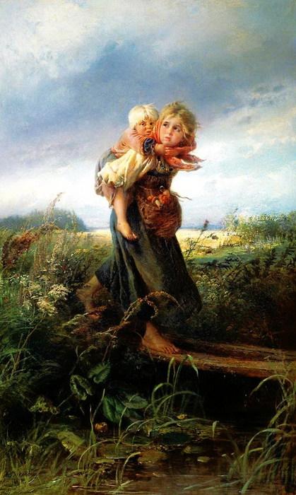 Дети, бегущие от грозы. 1872 (419x700, 98Kb)