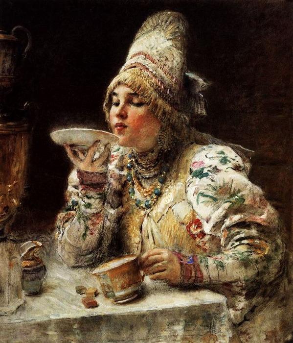 За чаем. 1914 (599x700, 166Kb)