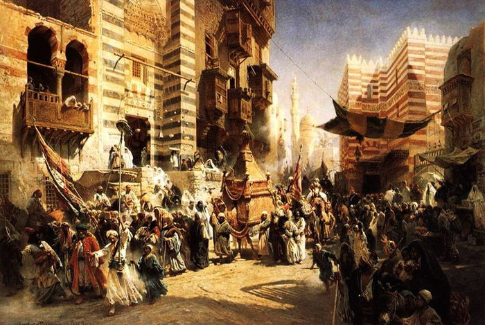 Перенесение священного ковра в Каире. 1876 (700x469, 137Kb)
