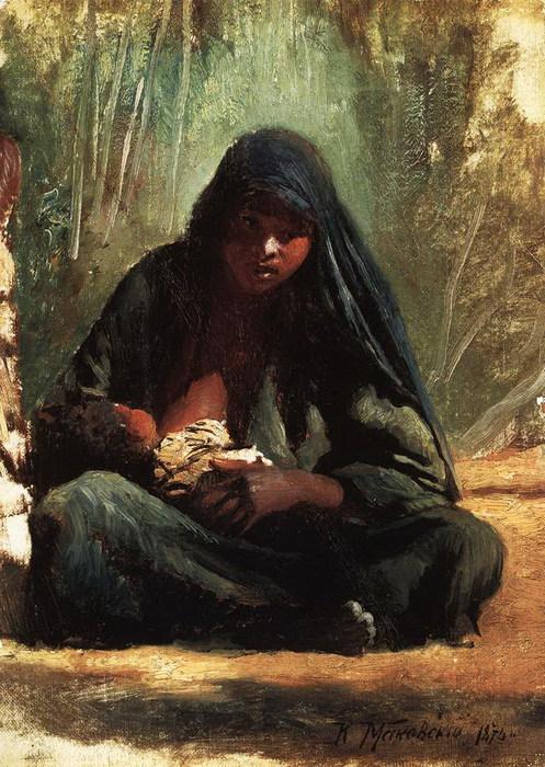 Египтянка с ребенком. 1875 (497x700, 134Kb)