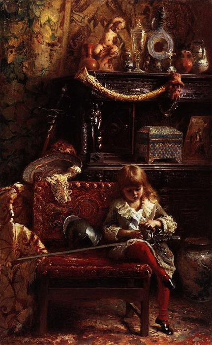 Портрет сына в мастерской. 1882 (431x700, 123Kb)