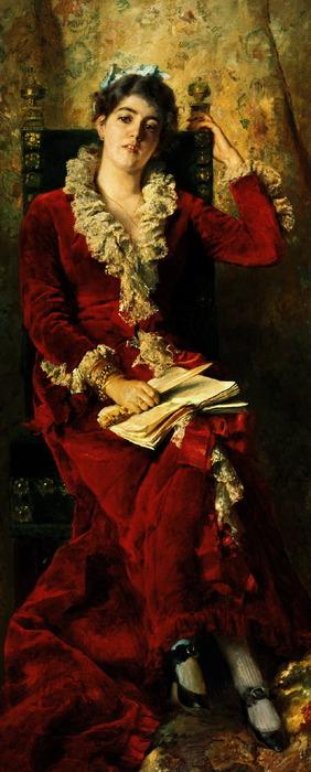 Портрет жены художника Юлии Павловны Маковской (282x700, 79Kb)