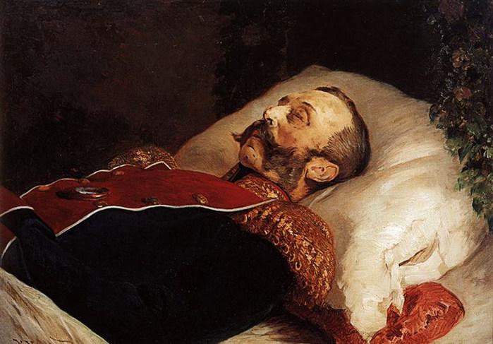 Портрет  Александра II  на смертном ложе. 1881 (700x487, 93Kb)