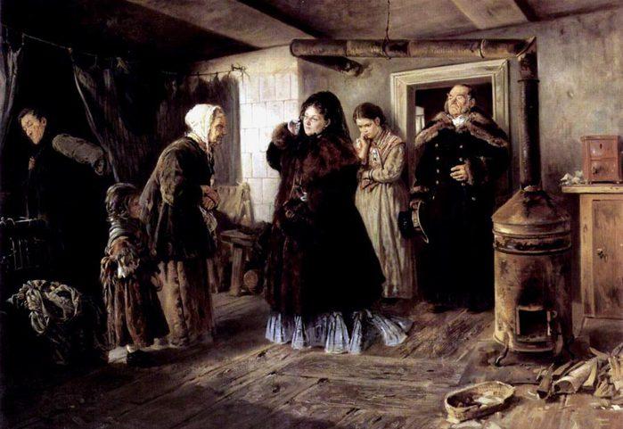 Посещение бедных  1874 (700x481, 67Kb)