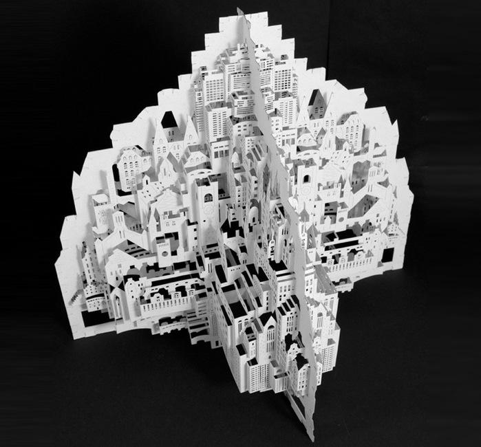 Архитектура из бумаги от Ингрид Силиакус.