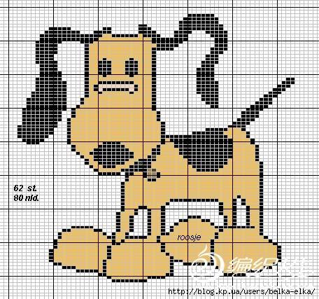 """ALLA_KORN.  Цитата сообщения.  Симпатичная схемка  """"собачка """"-для вязания.  Прочитать целикомВ."""