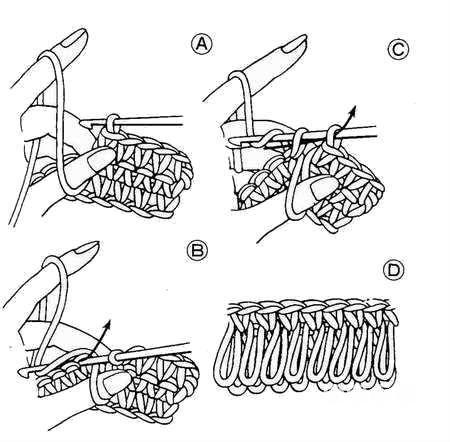 Вязание вытянутых петель крючком схемы и описание