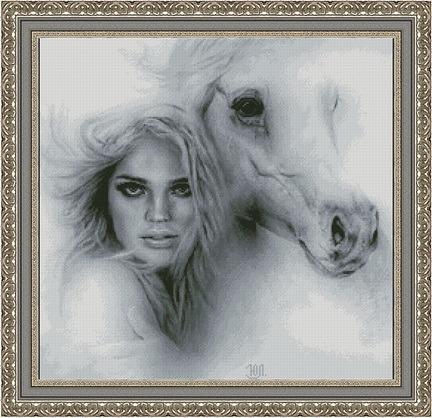 Девушка с лошадью (432x418, 74Kb)