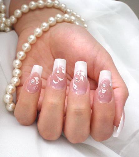 Маникюр френч френч дизайн ногтей