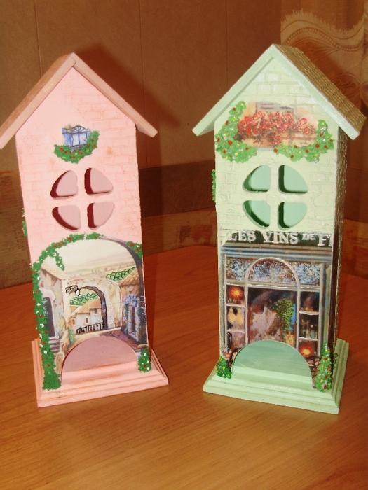 Чайные домики для декупажа