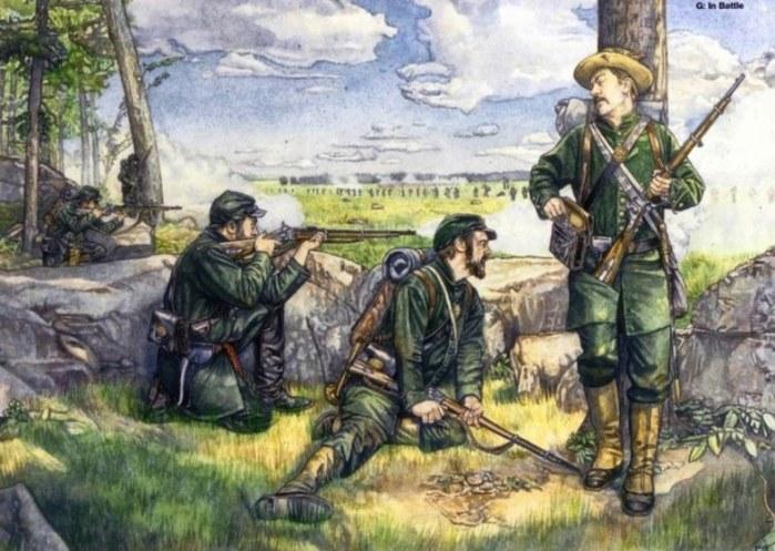 10 снайперы в полевом бою (700x497, 102Kb)