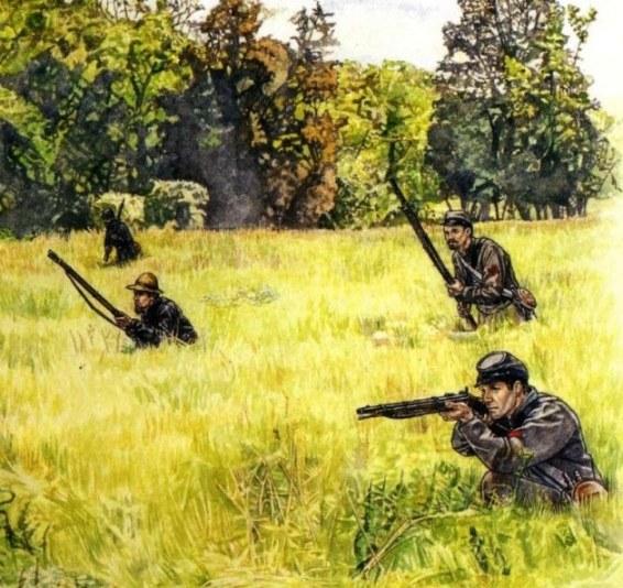 12 подразделение снайперов в бою (566x534, 98Kb)