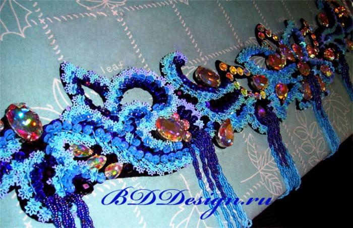 Вышивки бисером для восточных танцев
