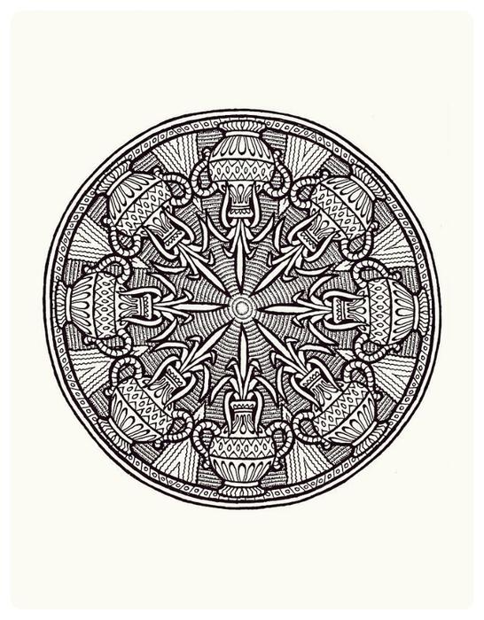 Мистические Мандалы. Книжка-раскраска. 38294