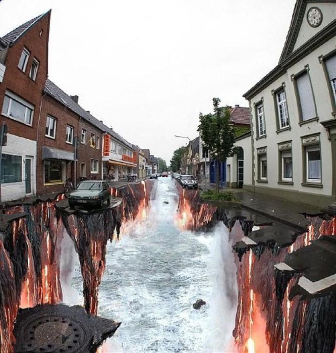 Работа Эдгара Мюллера на улице города Гельдерн в Германии (666x700, 82Kb)