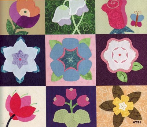 4235 24 blossom bloks to applique (481x416, 52Kb)
