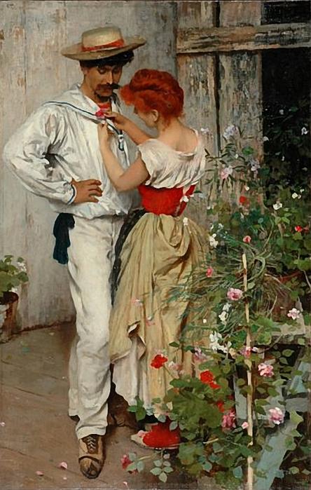 Ettore Tito.La mia rossa 1888. (444x700, 265Kb)