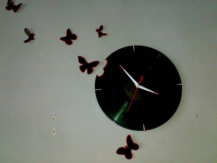 Бабочки своими руками из пластинок 97