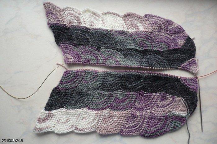 Вязание на спицах чешуйка