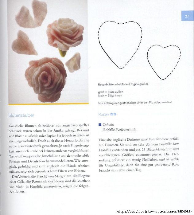 Это кусочек книги о валянии разных аксессуаров, в частности цветков.