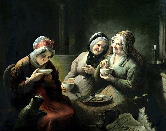 Louis Grosclaude.The Three Gossips (700x553, 333Kb)
