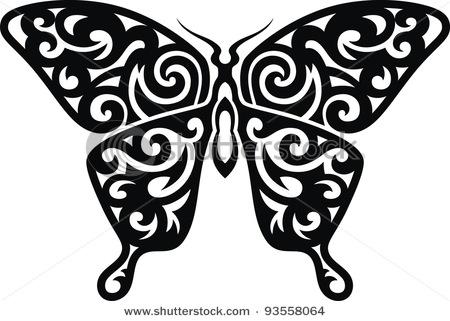 татушка рисунок бабочка.
